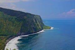 Hawaii mountains  Black Sand Beach Waipio Bay  Royalty Free Stock Photography