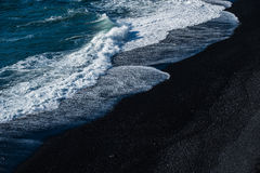 Free Black Sand Beach With Wave Stock Image - 91700811