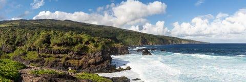 Black sand beack on Maui. Hawaii stock image