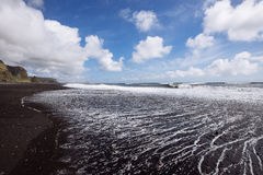 Black sand coast Stock Image