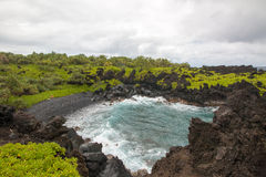 Black Sand Cove Royalty Free Stock Photography