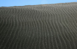 Black Sand Dune. A close up of a dune on one of New Zealand's black sand beaches stock photography