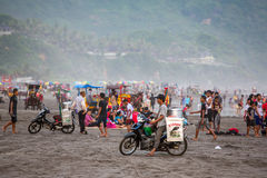 Black sand Parangtritis beach in Java, Indonesia Royalty Free Stock Photo