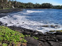 Black sand Royalty Free Stock Photography