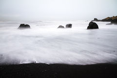 Black sand Vik Royalty Free Stock Photography
