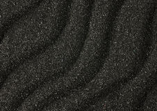 Black sand waves texture as background Royalty Free Stock Images