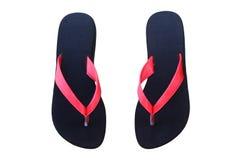 Black sandal. Isolated on white background Royalty Free Stock Photography