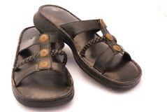 black sandals Στοκ φωτογραφία με δικαίωμα ελεύθερης χρήσης