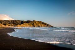 Black sanded beach Royalty Free Stock Photos