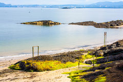 Black Sands beach, Aberdour, Scotland. Royalty Free Stock Photography