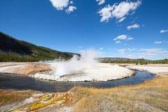 Black sands geyser basin Stock Photography