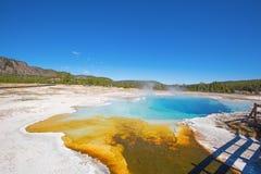 Black sands geyser basin Stock Image