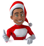 Black Santa Claus Royalty Free Stock Images