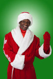 Black santa Royalty Free Stock Images