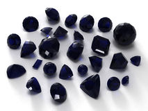 Black sapphire gems Royalty Free Stock Photography