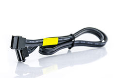 Black sata cable Royalty Free Stock Photo