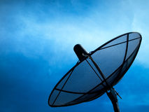 Black Satellite. Information signals are sent to space Royalty Free Stock Photography