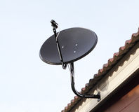 Black satellite antenna dish Stock Photography