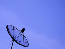 Black satellite dish Stock Images