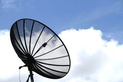 Black satellite dish Stock Image
