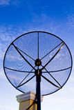 Black satellite dish Royalty Free Stock Images