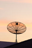 Black satellite dish Royalty Free Stock Photography