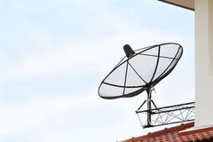 Black satellite dish Stock Photography