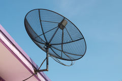 Black Satellite dish. Stock Photo