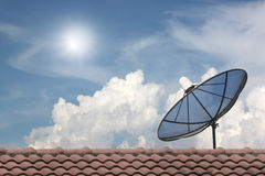 Black Satellite dish. Stock Photos