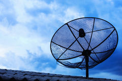 Black satellite dish Stock Photos