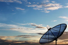 Black Satellite dish. Stock Image