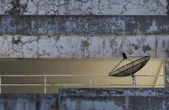 Black satellite dishes Stock Photos