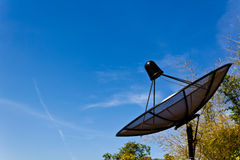 Black Satellite Information Signals Royalty Free Stock Photography