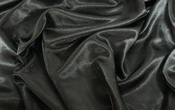 Black satin Stock Image