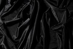 Black satin Stock Images