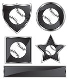Black Satin - Baseball Stock Photos