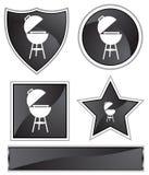 Black Satin - BBQ grill Stock Image