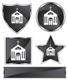 Black Satin - Church Stock Photography