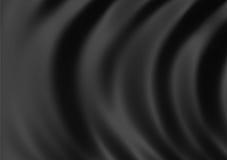 Black satin close up stock image