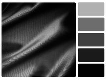 Black satin colour palette swatch Royalty Free Stock Images
