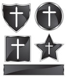Black Satin - Cross Royalty Free Stock Image