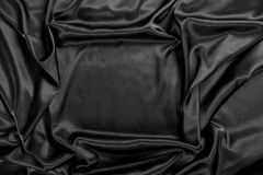 Black satin frame Royalty Free Stock Image