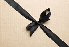 Black Satin Ribbon Royalty Free Stock Photos
