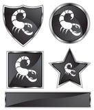 Black Satin - Scorpio Stock Images