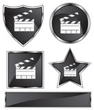 Black Satin - Slate Clapboard Stock Photography