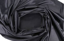 Black satin square. Stock Photos