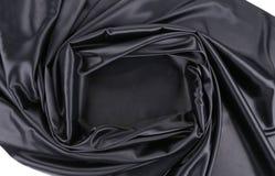 Black satin square. Stock Photos