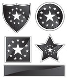 Black Satin - Stars Royalty Free Stock Image