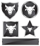 Black Satin - Taurus Royalty Free Stock Images