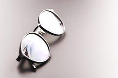 Black satine plastic circle eye glasses Stock Images